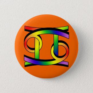 Cancer & Gemini GLBT 6 Cm Round Badge