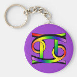 Cancer & Gemini GLBT Basic Round Button Key Ring
