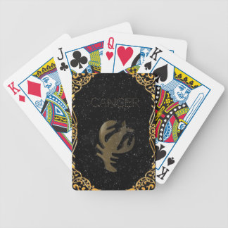 Cancer golden sign bicycle playing cards