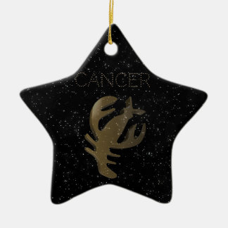 Cancer golden sign christmas ornament