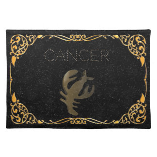 Cancer golden sign placemat