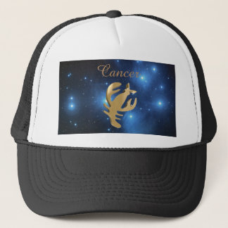Cancer golden sign trucker hat
