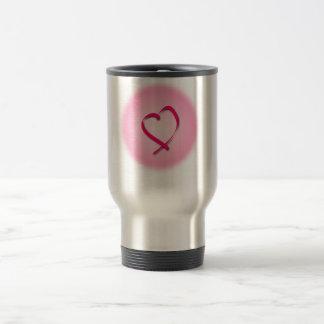 Cancer Heart Travel Mug