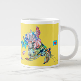 Cancer hermit large coffee mug