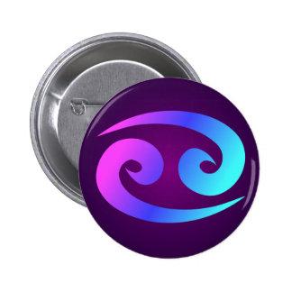 Cancer Horoscope Sign Pink Blue Aqua Purple 6 Cm Round Badge
