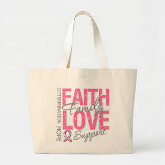 Cancer Inspiring Slogan Collage Breast Cancer Canvas Bags