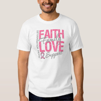 Cancer Inspiring Slogan Collage Breast Cancer T Shirts