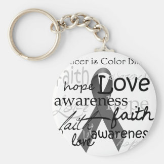 Cancer is Color BLind Basic Round Button Key Ring