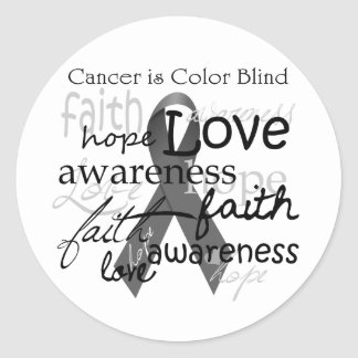 Cancer is Color BLind Round Sticker