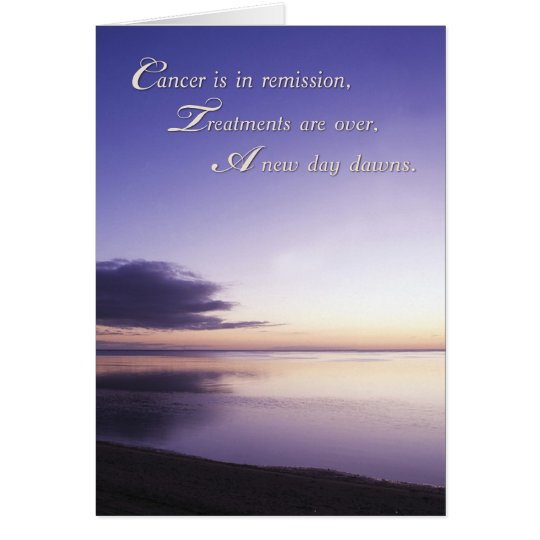 Cancer is in Remission, Sunrise Card