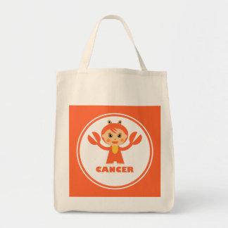 Cancer is my zodiac sign canvas bag
