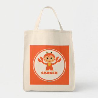 Cancer is my zodiac sign grocery tote bag