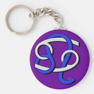 Cancer & Leo GyB Basic Round Button Key Ring