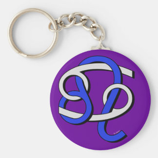 Cancer & Leo GyB Key Ring
