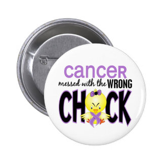 Cancer Messed With The Wrong Chick Pinback Buttons