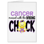 Cancer Messed With The Wrong Chick Greeting Card