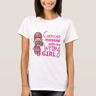 Cancer Messed With The Wrong Girl 2 Breast Cancer T-Shirt