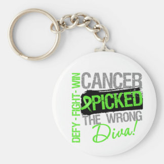 Cancer Picked The Wrong Diva Non-Hodgkins Lymphoma Key Chain