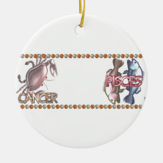 Cancer Pisces zodiac astrology friendship Christmas Ornament