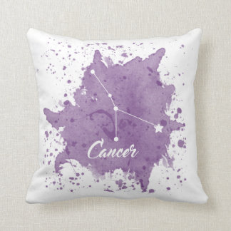 Cancer Purple Pillow