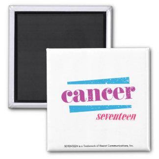 Cancer Purple Square Magnet