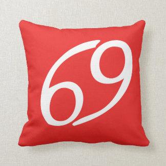 cancer red/orange pillow
