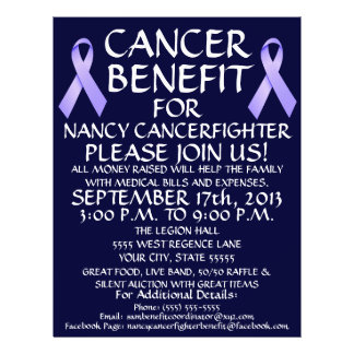 Cancer Ribbon Benefit Flyer