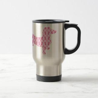 Cancer Ribbon Dachshund Travel Mug
