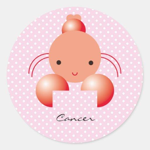 Cancer Round Sticker