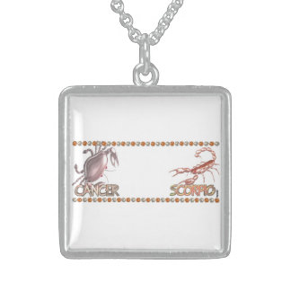 Cancer Scorpio friendship zodiac astrology Sterling Silver Necklace