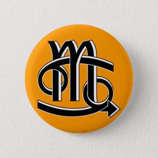 Cancer & Scorpio Partners bw 6 Cm Round Badge