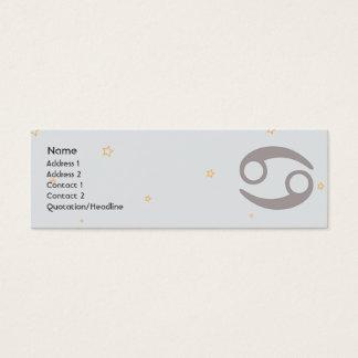 Cancer - Skinny Mini Business Card