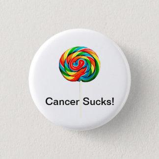Cancer Sucks 3 Cm Round Badge