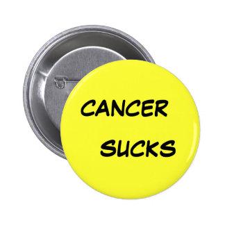 CANCER, SUCKS 6 CM ROUND BADGE