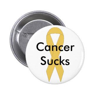 Cancer sucks 6 cm round badge