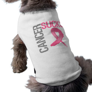 Cancer Sucks - Breast Cancer Sleeveless Dog Shirt