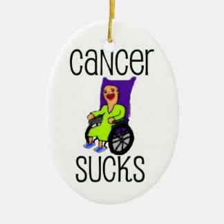 Cancer Sucks Cartoon Ceramic Oval Decoration
