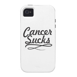 Cancer sucks Case-Mate iPhone 4 covers