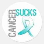 Cancer Sucks - Cervical Cancer Round Sticker