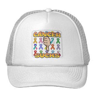 Cancer Sucks Colorful Ribbons Hats