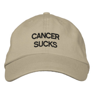 Cancer Sucks! Embroidered Hat