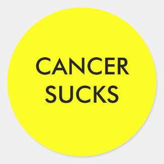 CANCER SUCKS ROUND STICKER