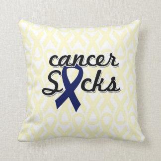 "Cancer Sucks Throw Pillow 20"" x 20"""