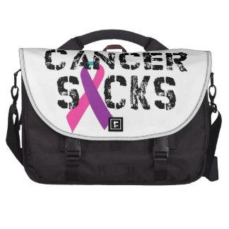 Cancer Sucks - Thyroid Cancer Ribbon Laptop Computer Bag
