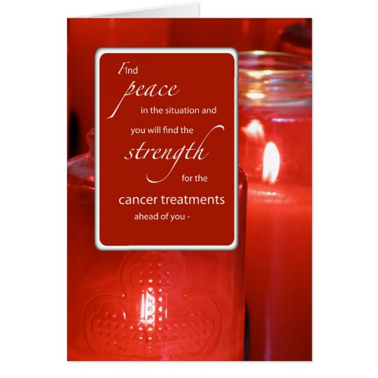 Cancer Support Religious Encouragement Peace Red C Card
