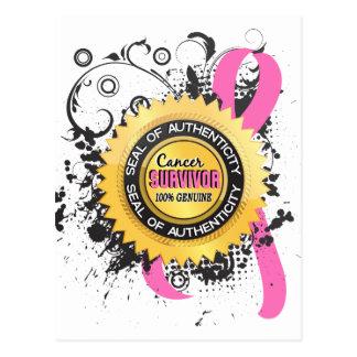 Cancer Survivor 23 Breast Cancer Postcard