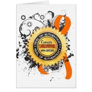 Cancer Survivor 23 Kidney Cancer Greeting Card