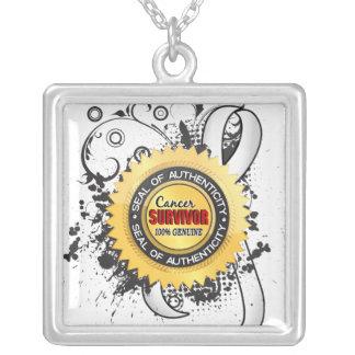 Cancer Survivor 23 Mesothelioma Custom Necklace