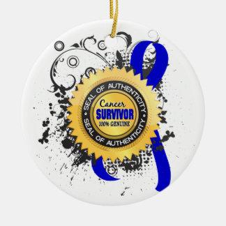 Cancer Survivor 23 Rectal Cancer Round Ceramic Decoration