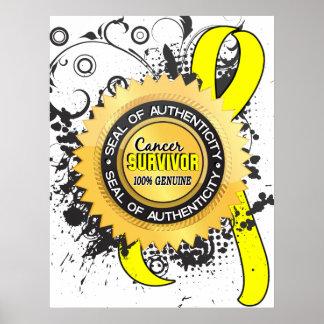 Cancer Survivor 23 Testicular Cancer Poster